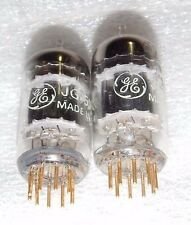 RARE NOS PAIR GENERAL ELECTRIC JG-5751 5751 BLACK PLATE 3 MICA TUBES GOLD P