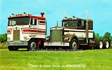 Old Photo.  Kenworth C.O.E. and Conventional Trucks