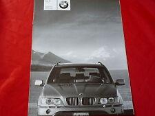 BMW X5 E53 3.0i 4.4i 4.6is 3.0d Preisliste von 2002