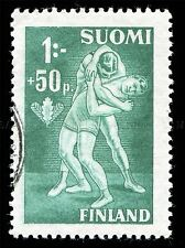 WRESTLING VINTAGE STAMP FINLAND PHOTO ART PRINT POSTER PICTURE BMP1309A