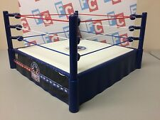 WWE Wrestling Mattel Tribute to the Troops Ring for Action Figures USA Red Blue