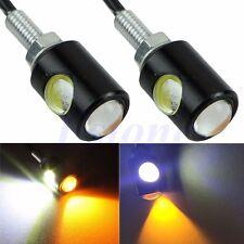 2pcs LED Motorcycle Car License Plate Screw Bolt Brake Tail Fog Light Lamp Bulb