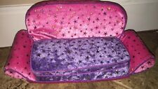 ONLY HEARTS CLUB PULL OUT COUCH SLEEPER SOFA PINK & PURPLE Furniture
