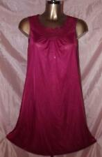 VINTAGE LORRAINE SILKY NYLON NIGHTGOWN IN BURGANDY RED SIZE X SMALL