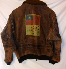 G-1 Flight Bomber Jacket Aviator Pearl Harbor 100% distressed leather XL