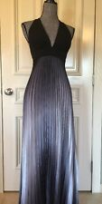 Cache Women's  Evening Dress  Long Gown Size 4 Black And Silver