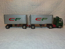 Vintage Tin Friction Consolidated Freightways Tandem Trailers Semi Truck Japan