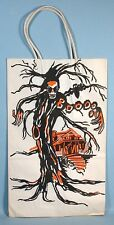 Halloween Trick or Treat Candy Bag Spooky Tree Skull Haunted House 1950s-1960s