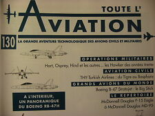 TOUTE L'AVIATION 130  /THY TURKISH AIRLINES / BOING B 47 / HAWKER HIND OSPREY