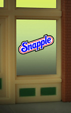 Snapple Animated Neon Window Sign HO Scale 1:87 or O Scale Model Train Building