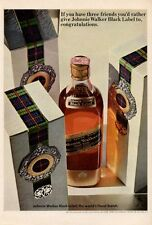 1965 Johnnie Walker black Label Scotch Whisky  PRINT AD