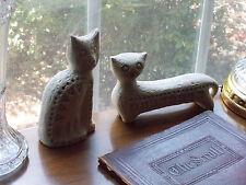 Pair of mid-century Aldo Londi Bitossi cats