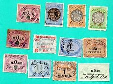 GERMANY LOT OF 12 REVENUE STAMPS 336