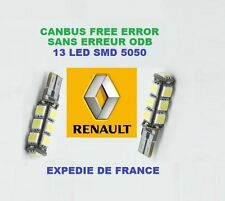 AMPOULES LED W5W T10 13 LED RENAULT Safrane 1993- 2000 6000K ANTI ERREUR - NEUF