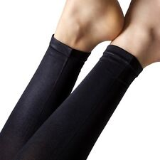 Gipsy Wet Look Footless Tights. Black. One Size. 94% Nylon 6% Elastane.