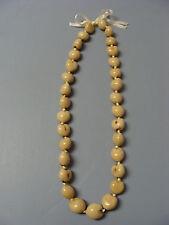 Hawaiian Ivory Color Kukui Nut Lei Luau Boho Bead Necklace