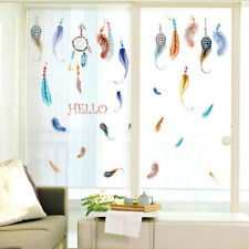 Handed Beauty Dream Catcher Feather Painting Wall Paper Home Wall Sticker Decal