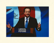 DAVID CAMERON PRIME MINISTER SECRET SANTA PP 8x10 MOUNTED SIGNED AUTOGRAPH PHOTO