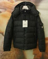 Authentic New Moncler Chimay Wool Down Jacket for Men in Gray Size 4/US XL