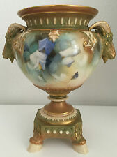 Royal Worcester James Hadley Rare Hand Painted Jardiniere Signed A Shuck