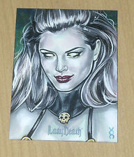 2016 5finity Lady Death Icon sketch card Veronica O'Connell 1/1 3/3