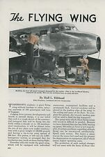 1938 Magazine Article Flying Wing Futuristic Airplane Lockheed Aircraft Electra
