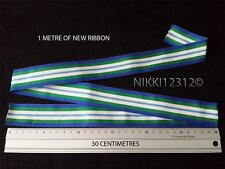 FULL SIZE 1 METRE OF UNITED NATIONS UN HAITI MINUSTAH MEDAL RIBBON