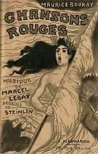 RARE EO MAURICE BOUKAY + STEINLEN + MARCEL LEGAY : CHANSONS ROUGES