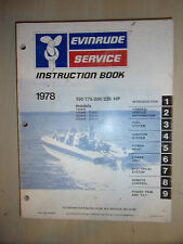1978 EVINRUDE MARINE OUTBOARD ENGINE SERVICE MANUAL 150HP 175HP 200HP & 235HP