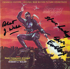 REVENGE OF THE NINJA CD Soundtrack SIGNED BY ROBERT WALSH + 2 MORE Varese NEW!