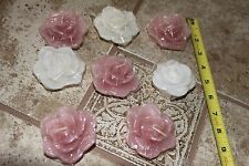 Gardenia Rose flower floating candles candle lot wedding table decoration pink