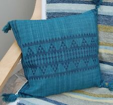 "New  Turquoise Wool  Cushion Cover 16 x 16"" Ethnic design RRP £19"