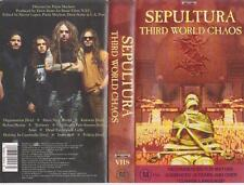 SEPULTURA THIRD WORLD CHAOS VHS VIDEO PAL~ RARE FIND