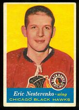 1957 58  TOPPS HOCKEY #24 ERIC NESTERENKO VG-EX CHICAGO BLACK HAWKS CARD