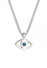 Elli 0109360115_40 Ladies Necklace with Evil Eye Pendant Swarovski 925Silver Blu