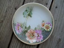 R & S Tillowitz Silesia Floral Plate 8-1/4 inch Dia. Gold Trim RS Prussia German