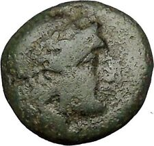 MYRINA in AEOLIS 2-1stCenBC Apollo Amphora Authentic Ancient Greek Coin i51976