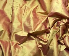 Silk DUPIONI Fabric Gold Hot Pink - by the yard-