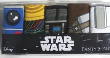 Disney Star Wars 5-Pack Panty R2D2 Darth Vader Chewbacca Size Small NIB