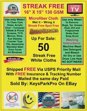 50 Streak Free MicroFiber Cleaning Cloths FREE SHIP Dealer ReSale Kit 5 Packs
