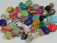 Glass beads wholesale mix x 100 varied colours, shapes, finishes, India, Tumi