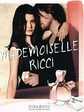 PUBLICITE ADVERTISING   2012    RICCI  collection parfums  MADEMOISELLE