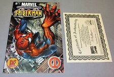 ULTIMATE SPIDER-MAN #1 Dynamic Forces DF Variant signed by Bendis & Quesada COA