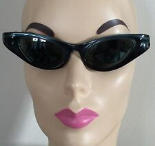 Vintage RAY-BAN MARCELLINA Cat-Eye Sunglasses c.1950's Black w Blue-Gray Accent