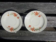 2 HALL CHINA CO SERENADE SAUCERS