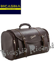 7288 - BAG SUITCASE BROWN LEATHER 35 LT FOR LUGGAGE RACK VESPA