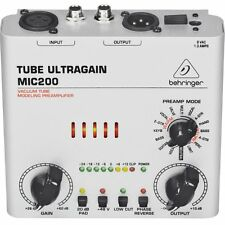 Behringer Tube Ultragain Mic200 Audiophile Vacuum Tube Preamplifier with Preamp