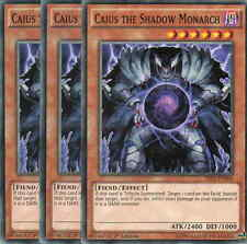 SR01-EN004 - CAIUS THE SHADOW MONARCH - COMMON 1st ed. CARDS X 3