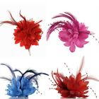 Hot Flower Feather Bead Corsage Hair Clips Fascinator Bridal Hairband Brooch Pin