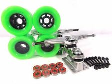 "Gullwing Sidewinder II 10"" Longboard Trucks + Blank 83mm Green Wheels"